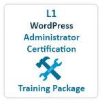 WordPress Administrator Certification Training Package