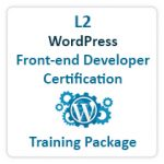 WordPress Front-end Developer Certification Training Package